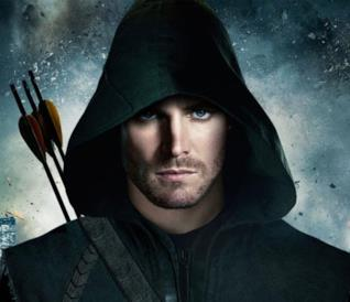 Stephen Amell nei panni di Oliver Queen