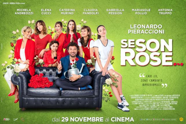 Leonardo Pieraccioni e le protagoniste di Se Son Rose... nel poster del film