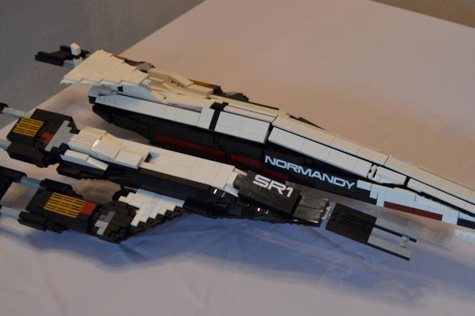 Il modellino LEGO della Normandy