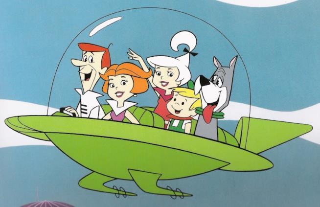 La famiglia dei Jetsons sull'astronave