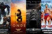 I poster di Transformers - L'Ultimo Cavaliere, Wonder Woman, La Mummia e Baywatch
