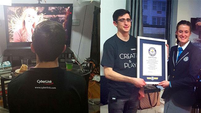 AJ Fragoso e il certificato del record del mondo di binge-watching