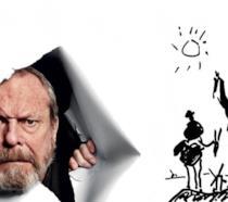 Il regista Terry Gilliam e il disegno di Don Chisciotte di Picasso