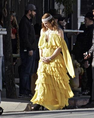 James Franco e l'abito giallo di Beyoncé