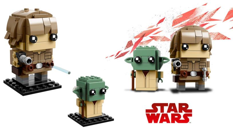 Dettagli del set LEGO BrickHeadz: Luke Skywalker & Yoda