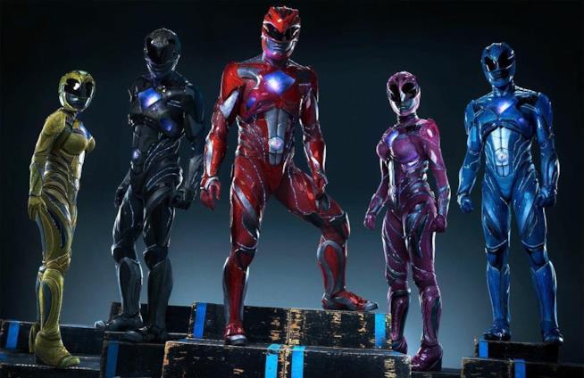 I Power Rangers come appaioni nel reboot del 2017