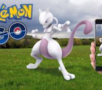 Un'immagine promozionale di Pokémon Go con Mewtwo