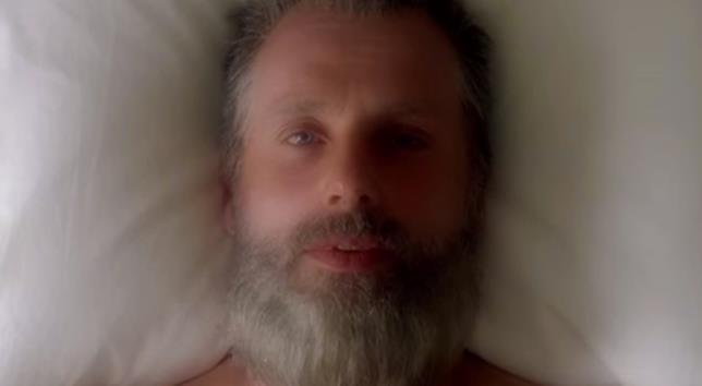 Il finale del trailer con Rick Grimes da vecchio