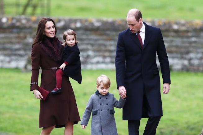 Kate Middleton e il Principe William con George e Charlotte