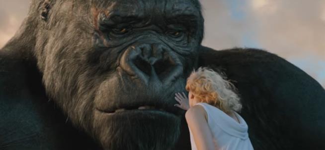Una scena del film King Kong del 2005