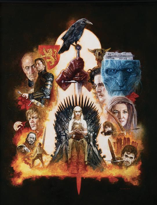 Dipinto di Game of Thrones realizzato dall'artista Sanjulian