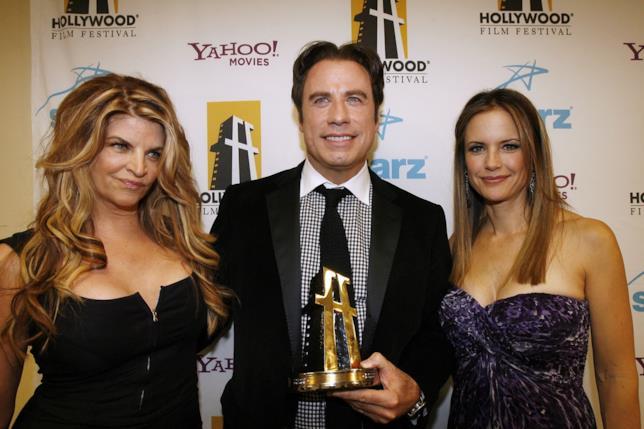 Kirstie Alley con John Travolta e sua moglie