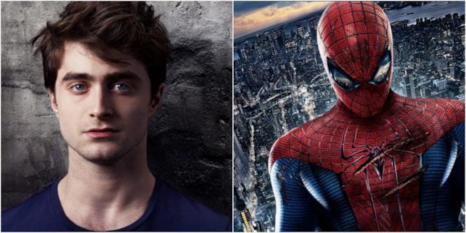 Daniel Radcliffe affiancato a Spider-Man