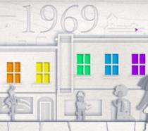 Il Google Doodle che celebra 50 anni del Gay Pride