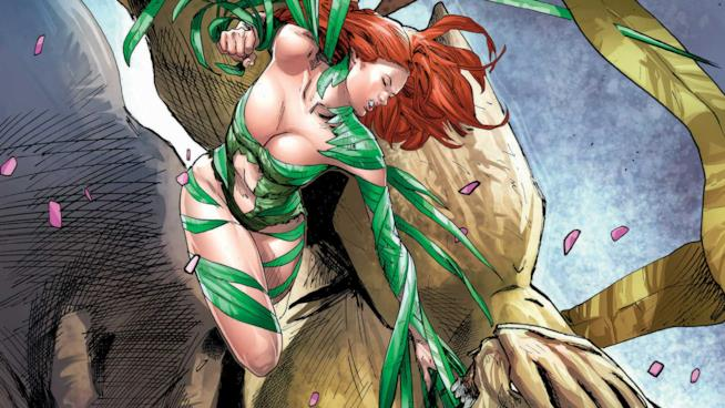 Poison Ivy in un artwork ufficiale della DC Comics