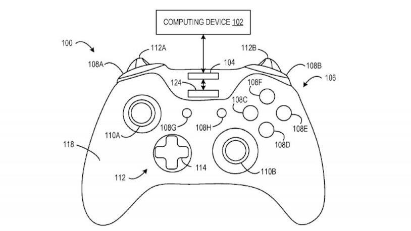 Immagine dai brevetti di proprietà di Microsoft