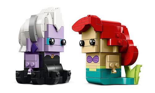 Dettagli del set LEGO BrickHeadz dedicato a Ursula e Ariel de La Sirenetta