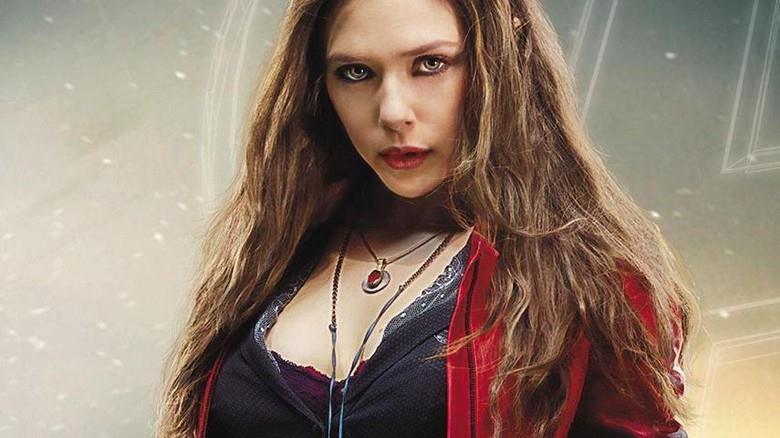 Un primo piano di Scarlet Witch in un poster promozionale