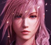 Un malinconico primo piano di Lightning, protagonista di Final Fantasy XIII