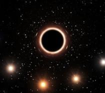 Il gruppo di stelle situato intorno al buco nero studiato dal team di ricercatori dell'ESO