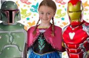 Alcuni costumi di carnevale Disney, Marvel e Star Wars