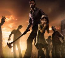 Clementine e Lee in Telltale's The Walking Dead