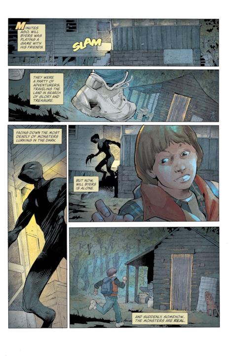 Le illustrazioni di Stefano Martino per il prossimo fumetto ispirato a Stranger Things