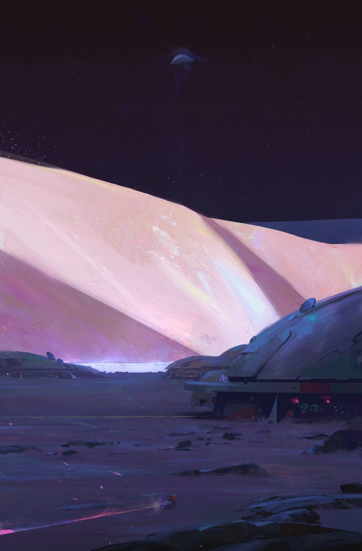 Una base lunare come immaginata da Ian McDonald