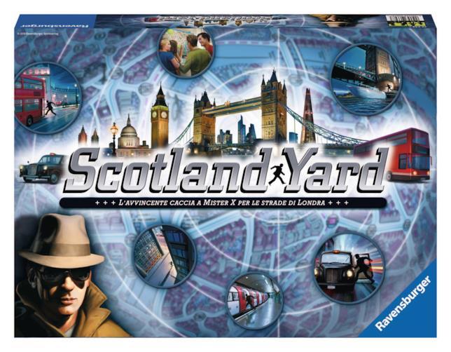 La confezione della versione base di Scotland Yard