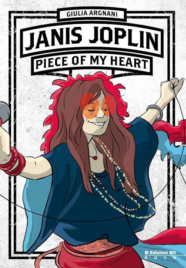La copertina del fumetto di Giulia Argnani sul mito di Janis Joplin