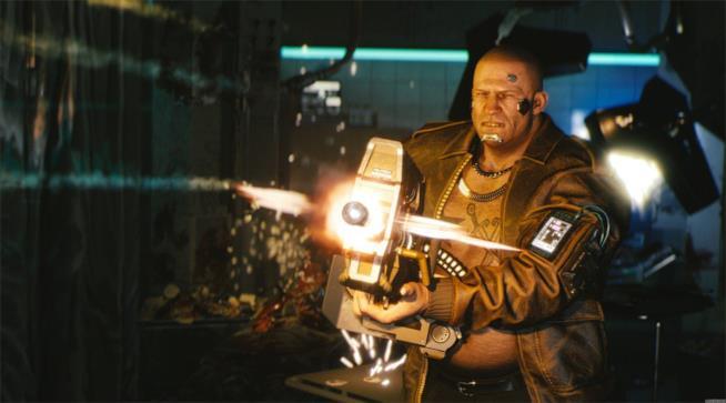 Una delle armi da fuoco che vedremo in Cyberpunk 2077