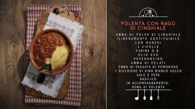 La ricetta della polenta con ragù di cinghiale