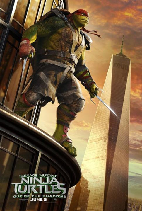 Raffaello in posa per Tartarughe Ninja 2
