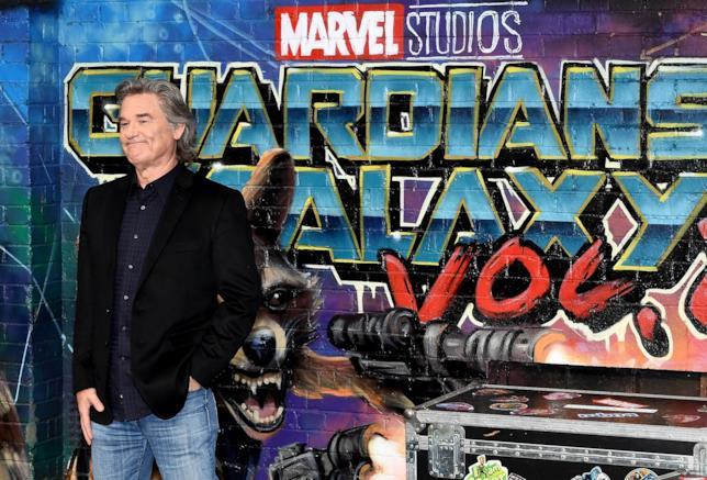 Kurt Russell posa per i fotografi alla premiere di Guardiani della Galassia Vol. 2