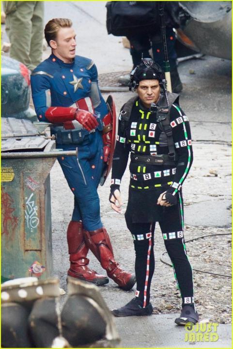 Un momento di pausa delle riprese sul set di Avengers 4