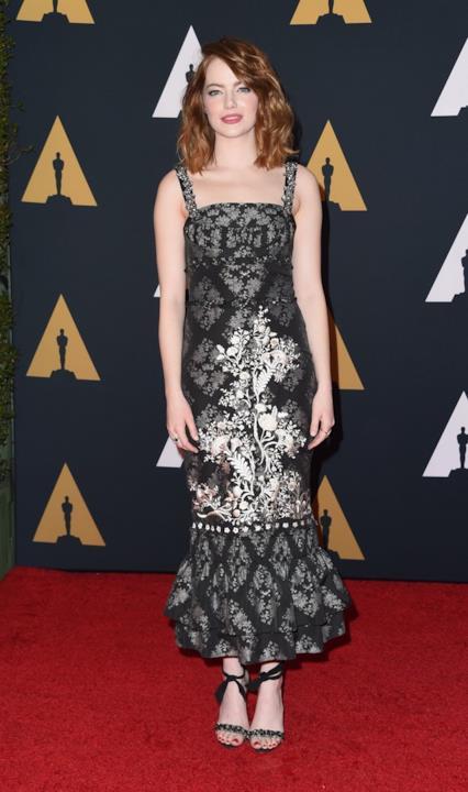 Emma Stone alla cerimonia degli Oscar alla Carriera