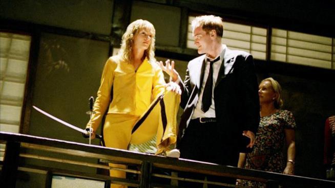 Tarantino sul set di Kill Bill