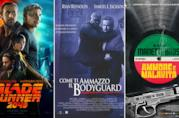 I poster dei film Blade Runner 2049, Come ti Ammazzo il Bodyguard e Ammore e Malavita