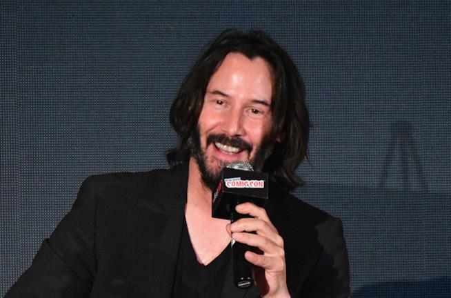 Keanu Reeves in primo piano