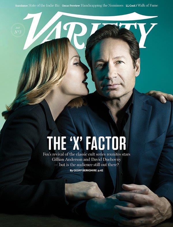 X-Files sulla copertina di Variety