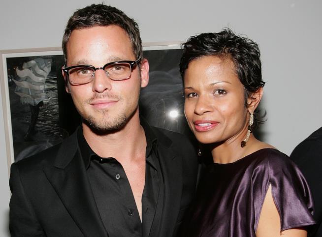 Justin Chambers e sua moglie Keisha con cui ha 5 figli