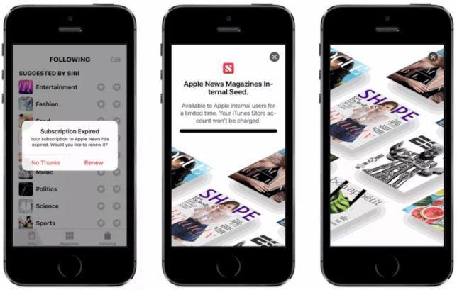 La splash page di Apple News Magazines trovata in una beta di iOS 12.2