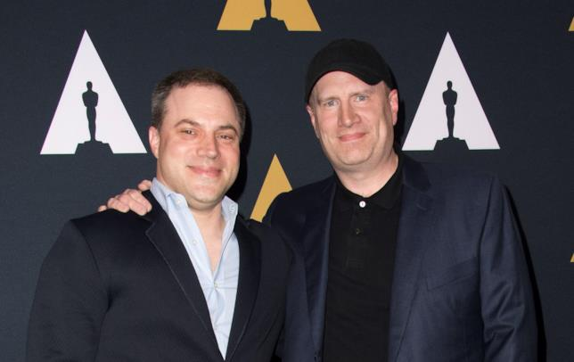 Kevin Feige e Geoff Johns a un evento