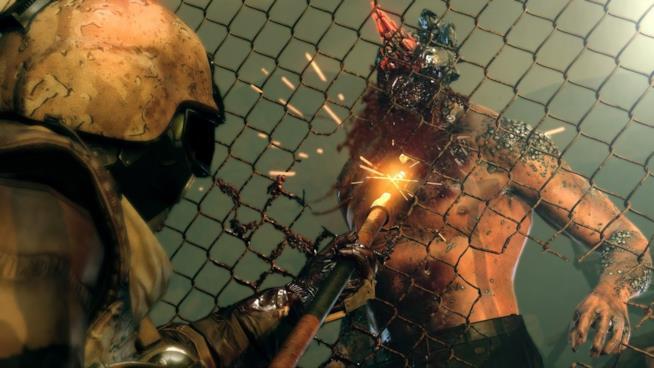 Soldati e zombie combattono in Metal Gear Survive