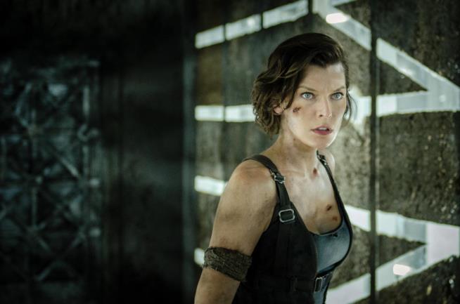 Milla Jovovich in una scena della saga Resident Evil