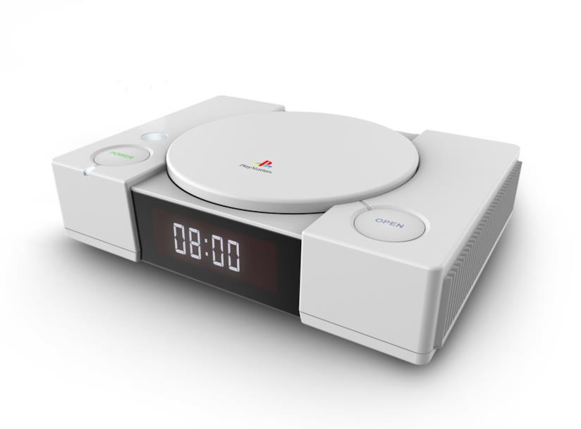 La sveglia a forma di console PlayStation