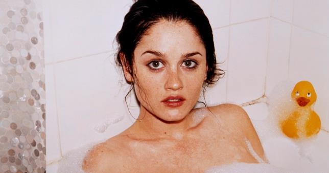 L'attrice Robin Tunney al naturale