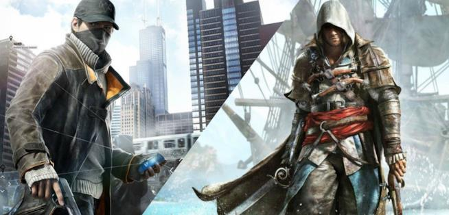 I protagonisti di Watch Dogs e Assassin's Creed IV