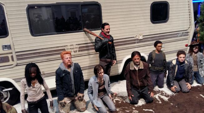 Negan e gli altri di The Walking Dead in statue di cera