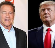 Arnold Schwarzenegger e Donald Trump in due foto ufficiali